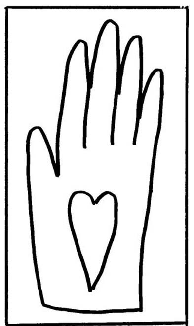 full page heart template - hand heart coloring coloring pages
